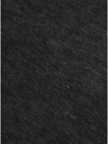 Tmavosivý melírovaný dámsky šál so strapcami Pieces Prace