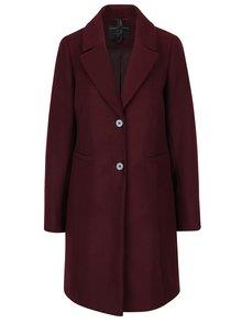 Vínový kabát s vreckami Dorothy Perkins