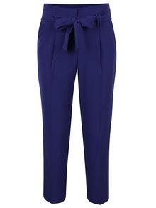 Tmavě fialové volné zkrácené kalhoty s vysokým pasem Dorothy Perkins