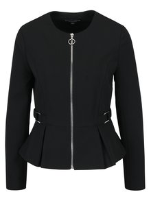 Čierne sako na zips Dorothy Perkins