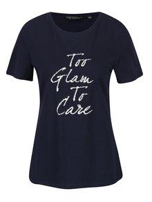 Tmavě modré tričko s nápisem Dorothy Perkins