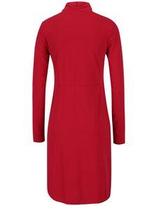 Červené dojčiace šaty s prekladaným výstrihom Mama.licious Wraping