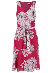 Ružové kvetované šaty so zaväzovaním Billie & Blossom