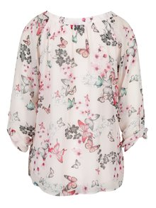 Bluza roz cu model floral si fluturi Billie & Blossom