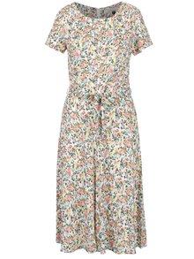 Růžovo-krémové květované šaty se zavazováním Billie & Blossom