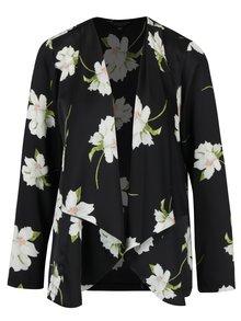Černé lehké květované sako Dorothy Perkins