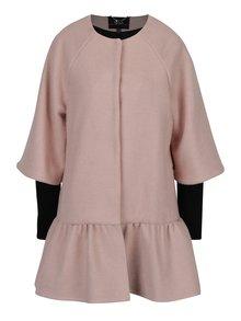 Světle růžový kabát s příměsí vlny NISSA