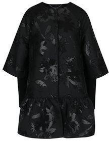 Čierny vzorovaný kabát NISSA