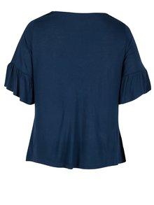 Tmavomodré tričko s výšivkami Dorothy Perkins Curve