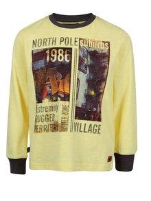 Žlté chlapčenské tričko s potlačou North Pole Kids