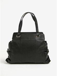 Černá kabelka s řasením na bocích Fornarina Lily