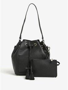 Čierna kabelka/crossbody taška s puzdrom 2v1 Fornarina Minnie