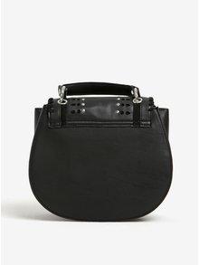 Černá crossbody kabelka s detaily ve stříbrné barvě Fornarina Jasmine