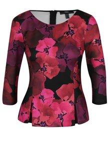 Fialovo-růžový květovaný top NISSA