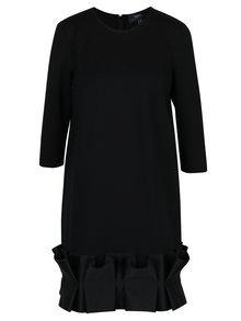 Černé šaty s dolním ozdobným lemem NISSA
