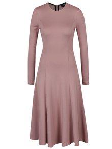 Světle růžové svetrové midi šaty NISSA
