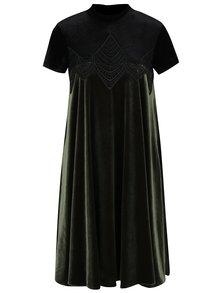 Černo-zelené sametové šaty NISSA
