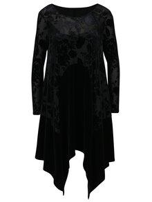 Černé vzorované průsvitné šaty NISSA