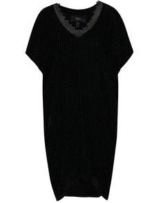 Černé třpytivé volné sametové šaty NISSA