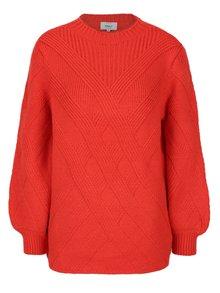 Červený svetr s balónovými rukávy ONLY Luv