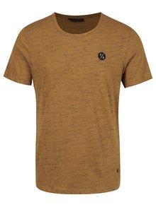 Tricou galben mustar cu logo Casual Friday by Blend