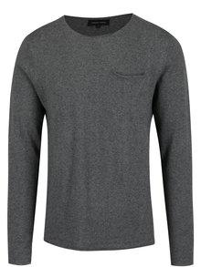 Tmavosivý pánsky tenký sveter Casual Friday by Blend
