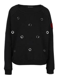 Bluza neagra lejera cu perforatii Fornarina Gloria