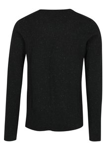 Černý pánský lehký svetr s jemným vzorem Casual Friday by Blend