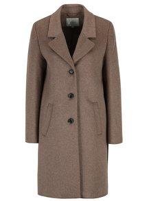 Hnědý vlněný kabát Selected Femme Sasja