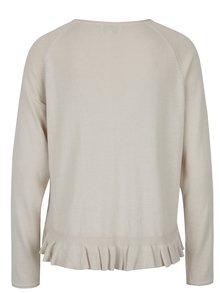 Béžový svetr s všitým košilovým lemem ONLY Naja
