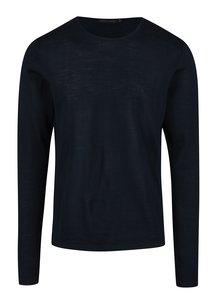 Tmavomodrý pánsky tenký vlnený sveter Casual Friday by Blend