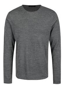 Sivý pánsky tenký vlnený sveter Casual Friday by Blend
