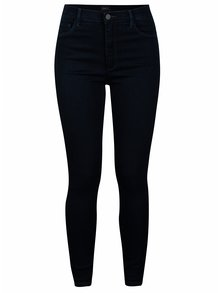 Tmavě modré skinny džíny s vysokým pasem ONLY Rain