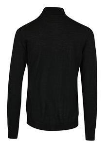 Černý pánský lehký vlněný kadrigan na zip Casual Friday by Blend