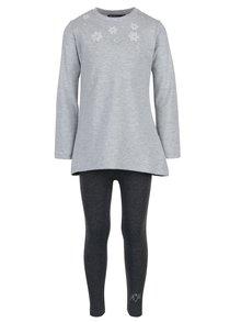 Sivá dievčenská súprava tričiek s legínami Mix´n Match