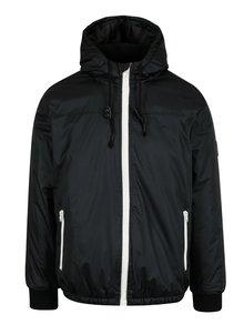 Černá bunda se stahovací kapucí Blend