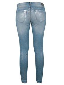 Světle modré skinny džíny s nízkým pasem a vyšisovaným efektem ONLY Coral