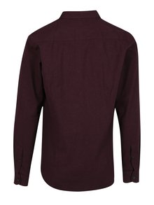 Camasa slim fit bordo Casual Friday by Blend