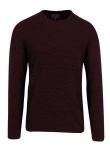 Vínový melírovaný sveter Blend