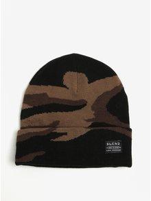 Hnedo-čierna vzorovaná čiapka Blend