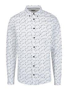Biela vzorovaná pánska slim fit košeľa Casual Friday by Blend