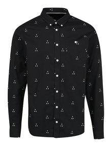 Čierna vzorovaná pánska slim fit košeľa Casual Friday by Blend