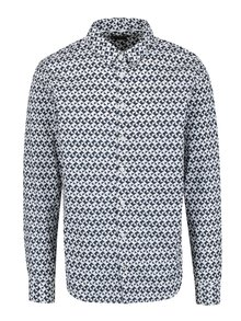 Modro-bílá vzorovaná pánská slim fit košile Casual Friday by Blend