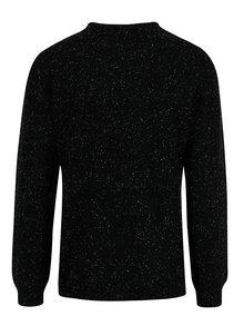 Čierny slim fit sveter s jemným vzorom Blend