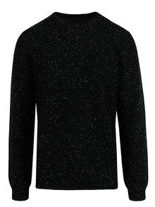 Černý slim fit svetr s jemným vzorem Blend