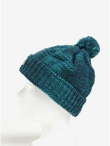 Zelená melírovaná dámska zimná čapica s prímesou vlny a brmbolcom Horsefeathers Tania