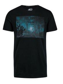 Černé tričko s krátkým rukávem a potiskem Blend