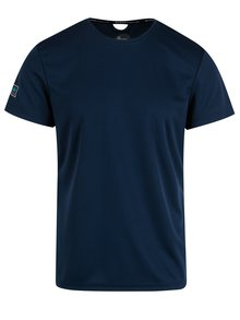 Tricou slim fit bleumarin cu decupaj Blend