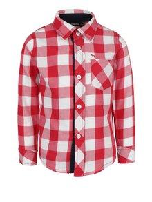 Červená chlapčenská kockovaná košeľa s vreckom Mix´n Match