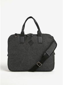 Tmavě šedá taška na notebook s odnímatelným popruhem Blend